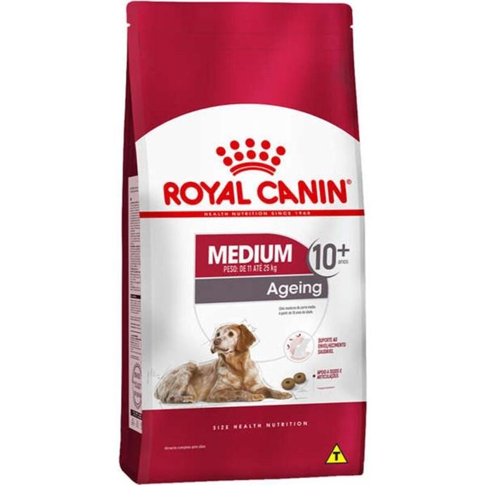 Ração Royal Canin Medium Ageing 10 + para Cães Idosos de Raças Médias com 10 Anos ou mais