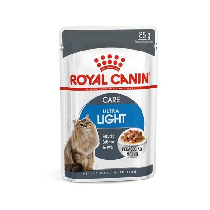 Ração Royal Canin Sachê Feline Ultra Light para Gatos Adultos