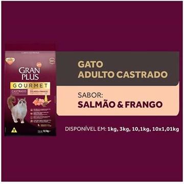 Ração Seca Affinity GranPlus Gourmet Salmão & Frango para Gatos Castrados 10,1 Kg