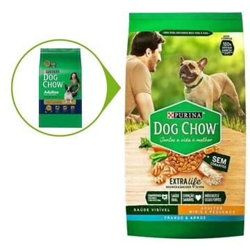 Ração Seca Nestlé Purina Dog Chow Extra Life Frango e Arroz Cães Adultos Raças Minis e Pequenas 10,1 Kg