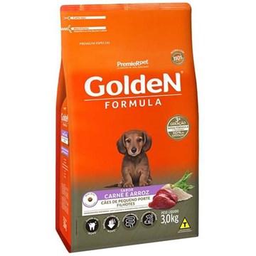 Ração Seca Premier Pet Golden Formula Carne e Arroz para Cães Filhotes de Raças Pequenas