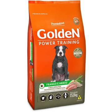 Ração Seca Premier Pet Golden Power Training Cães Adultos Frango e Arroz