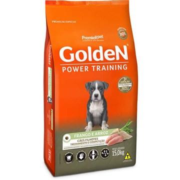 Ração Seca Premier Pet Golden Power Training Cães Filhotes Frango e Arroz