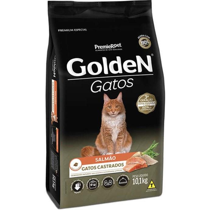 Ração Seca Premier Pet Golden Salmão para Gatos Adultos Castrados