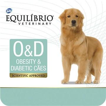 Ração Seca Total Equilíbrio Veterinary O&D Obesity & Diabetic Cães Adultos