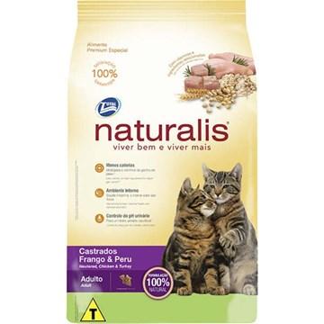 Ração Total Naturalis Frango e Peru para Gatos Castrados