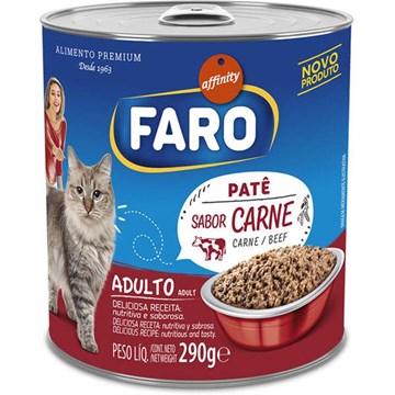 Ração Úmida Affinity Faro Lata Patê Sabor Carne para Gatos 290 Gr