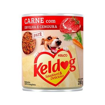 Ração Úmida Keldog Lata Carne, Ervilha e Cenoura