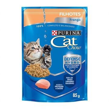 Ração Úmida Nestlé Purina Cat Chow para Gatos Filhotes sabor Frango 85 Gr