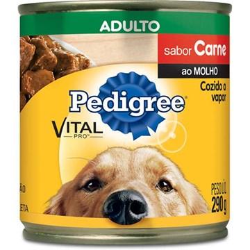 Ração Úmida Pedigree Lata Carne ao Molho para Cães Adultos