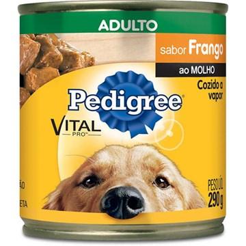 Ração Úmida Pedigree Lata Frango ao Molho para Cães Adultos