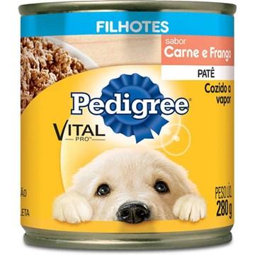 Ração Úmida Pedigree Lata Patê de Carne e Frango para Cães Filhotes