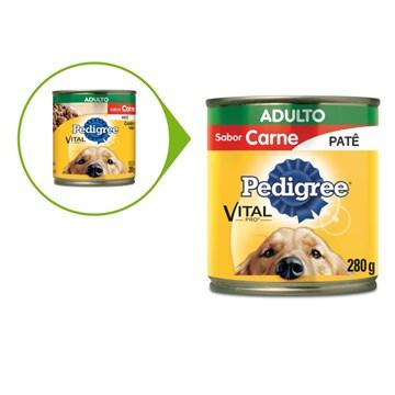 Ração Úmida Pedigree Lata Patê de Carne para Cães Adultos