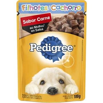 Ração Úmida Pedigree Sachê Carne ao Molho para Cães Filhotes