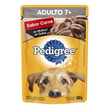 Ração Úmida Pedigree Sachê Carne ao Molho para Cães Sênior 7+ Anos