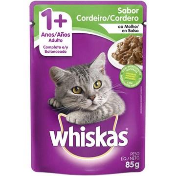 Ração Úmida Whiskas Sachê Cordeiro ao Molho para Gatos Adultos