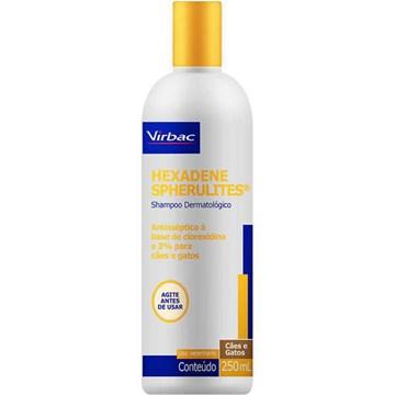 Shampoo Dermatológico Virbac Hexadene Spherulites para Cães e Gatos