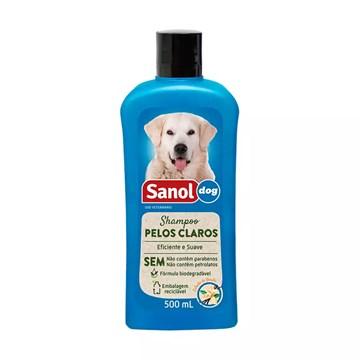 Shampoo Sanol Dog para Cães de Pelos Claros