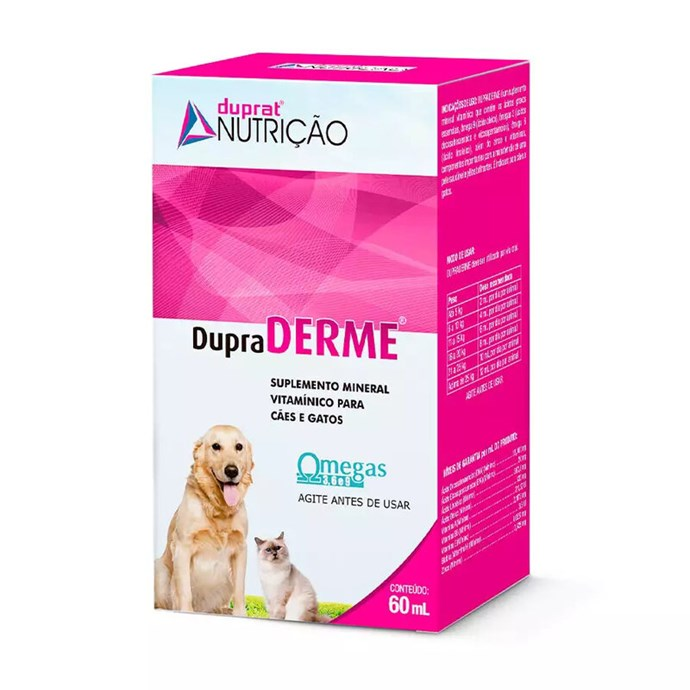 Suplemento Mineral Vitamínico Duprat DupraDerme para Cães e Gatos