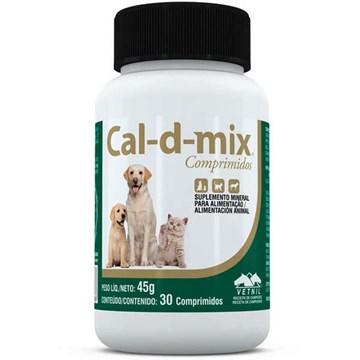 Suplemento Vetnil Cal-D-Mix para Cães e Gatos 30 Comprimidos