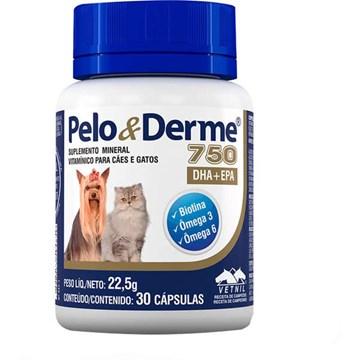 Suplemento Vetnil Pelo & Derme DHA + EPA 750