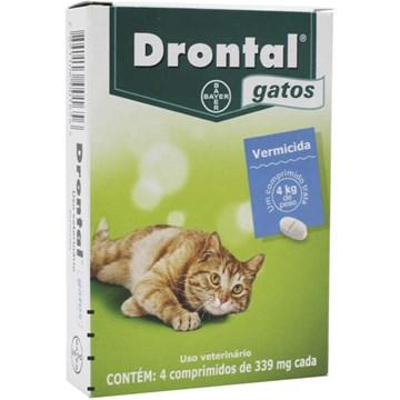 Vermífugo Drontal Gatos 4 Kg