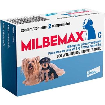 Vermífugo Milbemax C para Cães até 5 Kg