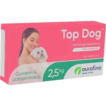 Vermifugo Ourofino Top Dog para Cães de até 2.5 Kg