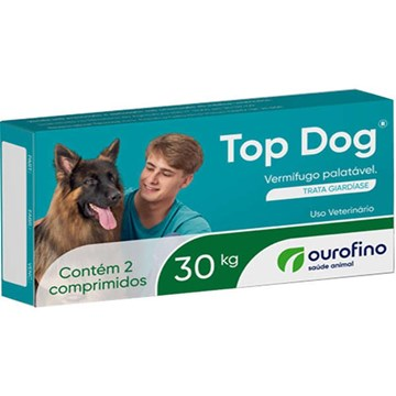 Vermifugo Ourofino Top Dog para Cães de até 30 Kg